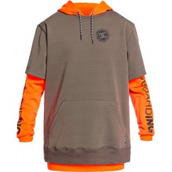 DC SHOES DRYDEN SHOCKING ORANGE - FELPA