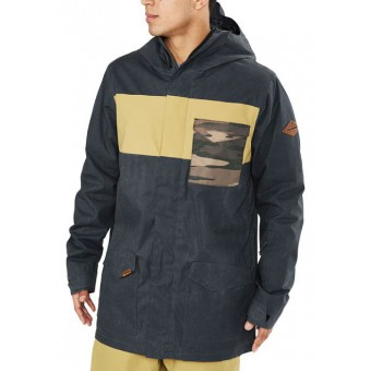 DAKINE ELSMAN JACKET - BLACK/FENNEL/FIELD CAMO