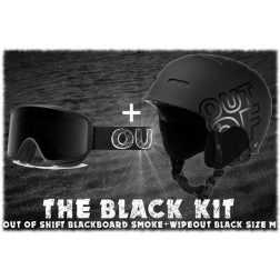 OUT OF THE BLACK KIT - SHIFT BLACKBOARD SMOKE+WIPEOUT BLACK M